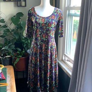 Lularoe floral elbow sleeve dresss
